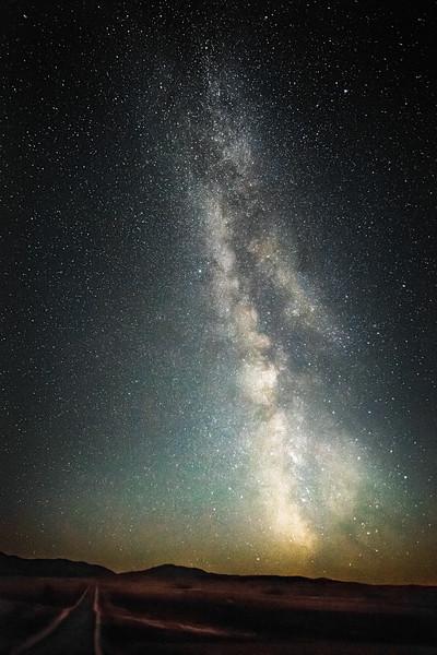 The big sky at night.
